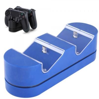 Зарядная станция синяя для 2-x контроллеров (PS4)