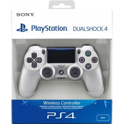 Геймпад Sony DualShock 4 v2 CUH-ZCT2E, серебристый