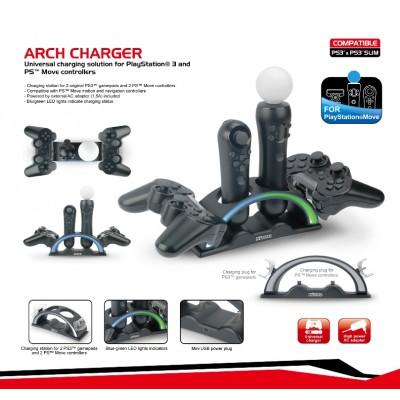 Зарядное устройство Nitho Arch Charger P3 MARC для двух контроллеров (PS3 / PS Move)