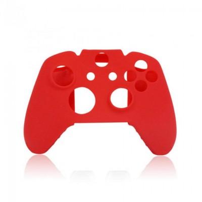Чехол защитный силиконовый для джойстика (Красный) + Накладки на стики (Красные) (Xbox One)
