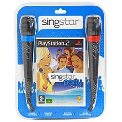 SingStar Party + 2 микрофона (PS2)