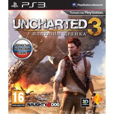 Uncharted 3: Иллюзии Дрейка (русская версия) (PS3)
