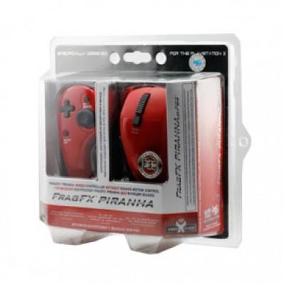 Джойстик Frag FX Piranha красный (проводной комплект) (PS3)
