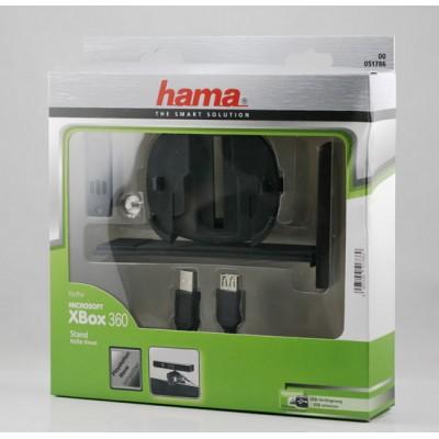 Держатель HAMA для сенсора Kinect/камеры PS3 + кабель USB (H-51786) черный