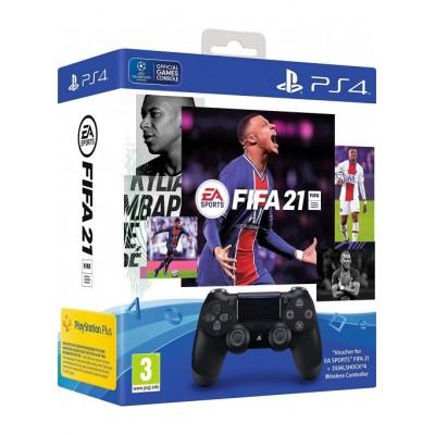 Геймпад Sony DualShock 4 v2 (CUH-ZCT2E) + FIFA 21 + подписка PS Plus 14 дней
