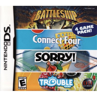 Battleship Connect Four Sorry Trouble (DS)