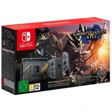 Игровая приставка Nintendo Switch 32 ГБ Особое издание Monster Hunter Rise, серый, Monster Hunter Rise + DLC Deluxe Kit + бонусный контент