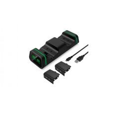 Зарядная станция для 2-x геймпадов + 2 аккумулятора в комплекте 800 мАч DOBE (TYX-19006X) (Xbox One/Series X/S)