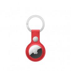 Кожаный брелок для AirTag с кольцом для ключей, (PRODUCT)RED