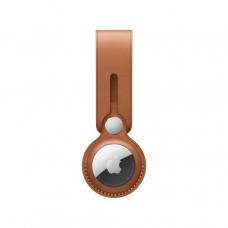Кожаный брелок-подвеска для AirTag, золотисто-коричневый цвет