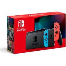 Игровая приставка Nintendo Switch 32 ГБ, неоновый синий/неоновый красный,
