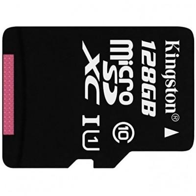 Карта памяти MicroSDXC 128GB Kingston Class 10 UHS-I (SD адаптер)