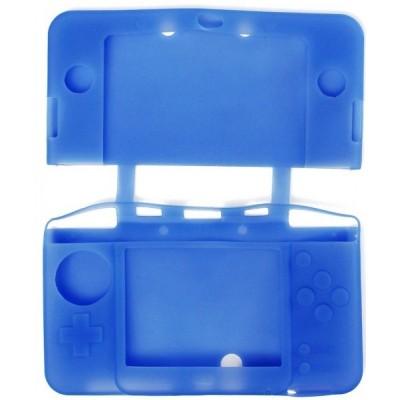 Чехол силиконовый синий для New Nintendo 3DS XL