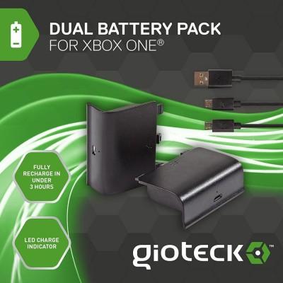 Dual Battery Pack (аккумуляторы + зарядный кабель) Gioteck DBPXB1-11-MU (Xbox One)
