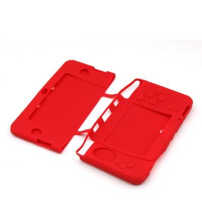 Чехол силиконовый красный New Nintendo 3DS XL
