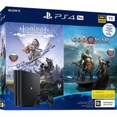 Sony PlayStation 4 Pro (1TB) Black (CUH-7208В) + игра Horizon: Zero Dawn + игра God of War