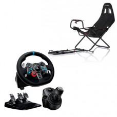 Игровой руль Logitech G29 Driving Force + коробка передач Driving Force Shifter + кресло Playseat Challenge