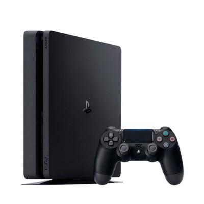 Игровая приставка Sony PlayStation 4 Slim 500 ГБ, черный,