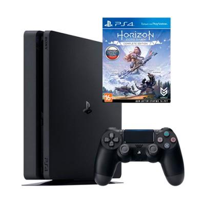 Sony PlayStation 4 Slim 500 GB + игра Horizon Zero Down. Complete Edition (русская версия) (PS4)