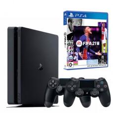 Sony PlayStation 4 Slim 1 TB + Dualshock 4 v.2 + FIFA 21