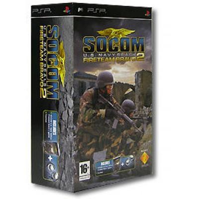 SOCOM: U.S. Navy Seals Fireteam Bravo 2 + Гарнитура (PSP)