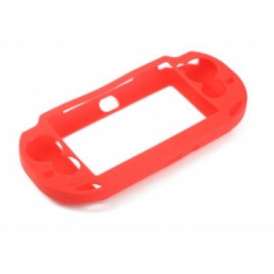 Чехол силиконовый (красный) (PS Vita)