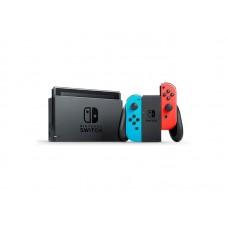 Игровая приставка Nintendo Switch rev.2 32 ГБ, неоновый синий, неоновый красный,