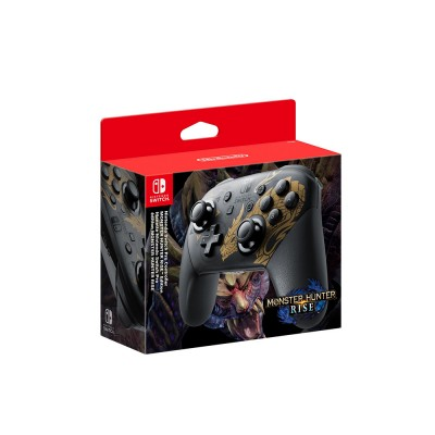Геймпад Nintendo Switch Pro Controller Monster Hunter Rise, черный/золотой