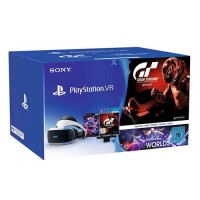 Шлем виртуальной реальности Sony PlayStation VR (CUH-ZVR2) + Camera + Gran Turismo Sport + PlayStation VR Worlds, черно-белый