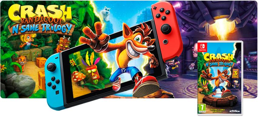 Crash Bandicoot N. Sane Trilogy (Switch)