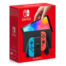 Игровая приставка Nintendo Switch (OLED-модель) Neon Red/Blue