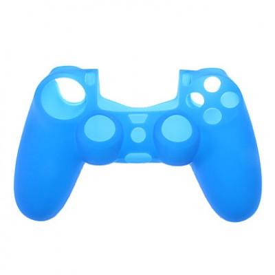 Защитный силиконовый чехол для джойстика (синий) (PS4)