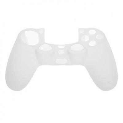 Защитный силиконовый чехол для джойстика (белый) (PS4)