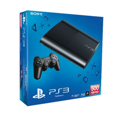 Игровая приставка Sony PlayStation 3 Super Slim 500 ГБ, черный
