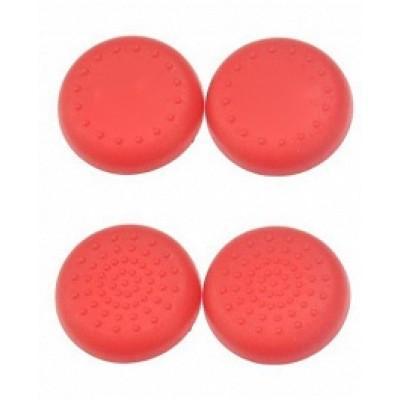 Защитные резинки на джойстик Thumb grips 4шт. (красные)