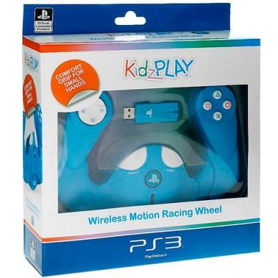 Беспроводной руль Kidz Play для PS3 (голубой)