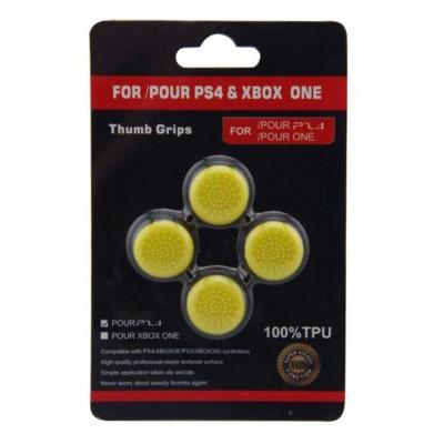 Защитные резинки на джойстик Thumb grips 4шт. (желтый)